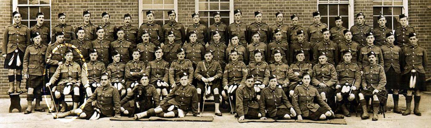 MS Gen 1376/11/9 No 5 Platoon, B Company at Basingstoke: March 1915
